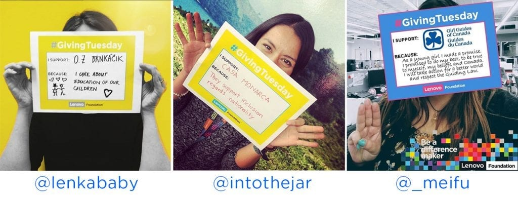 Lenovo Employees Win Donations for Their Favorite Charity with a #GivingTuesday #Unselfie