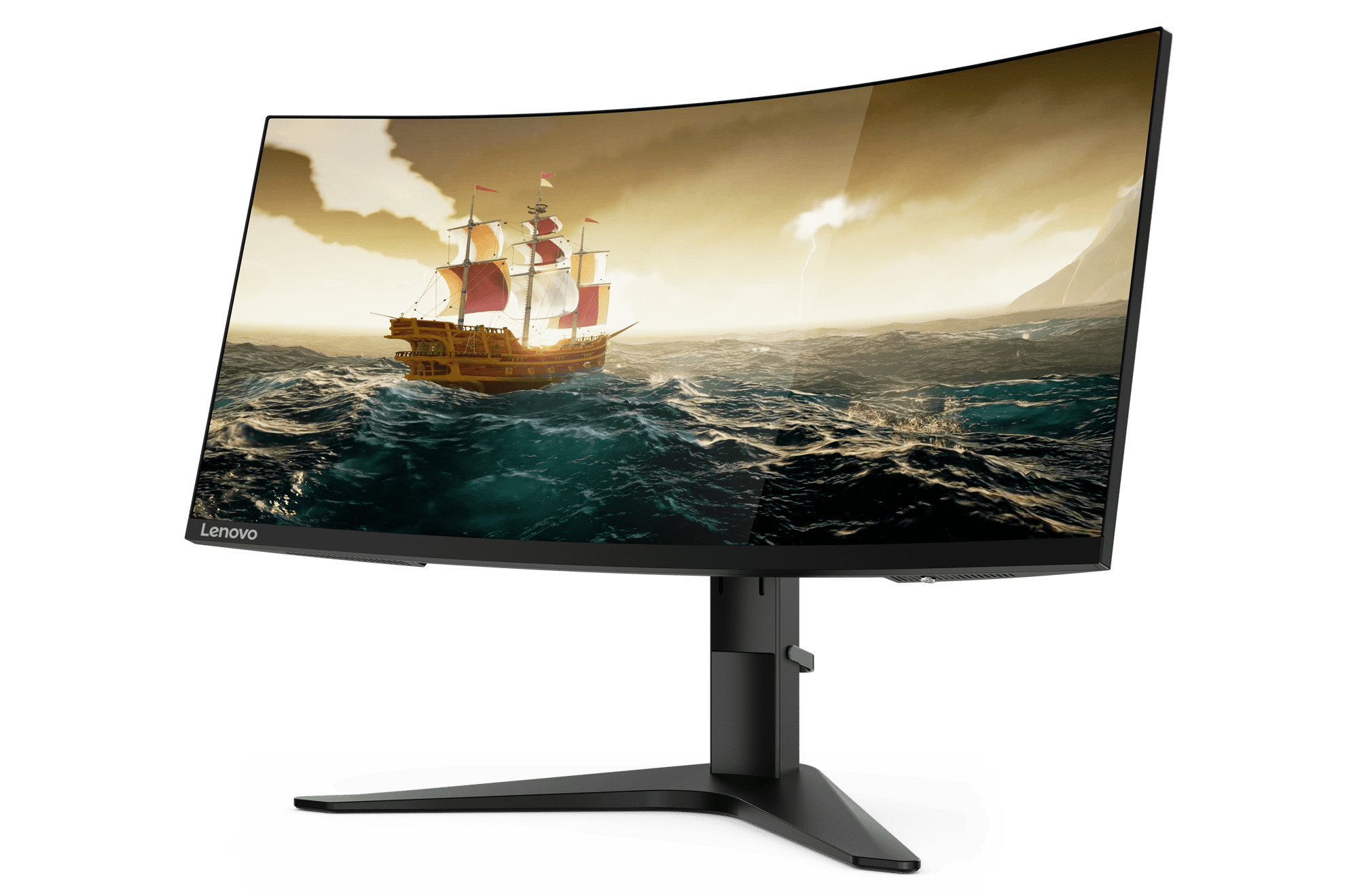 A higher refresh rate on the Lenovo G34w Gaming Monitor (144Hz) minimizes motion blur for natural player movements.