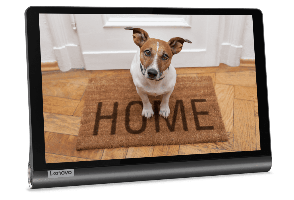 With the Google Assistant's Ambient Mode, you can transform the new Lenovo Yoga Smart Tab into a beautiful digital photo frame and more.