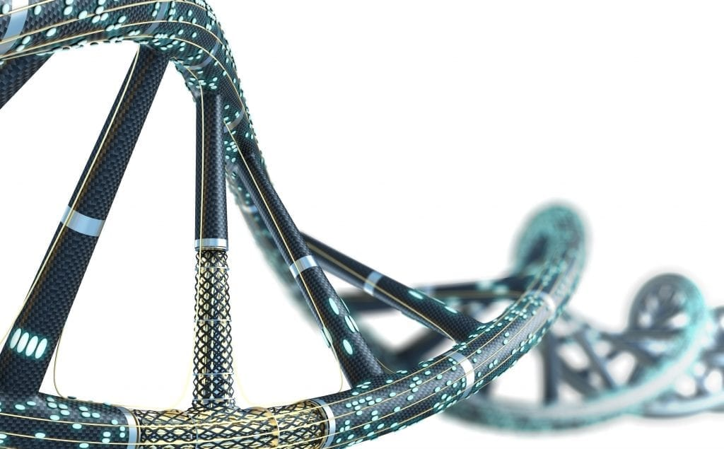 Rendering of a DNA double helix