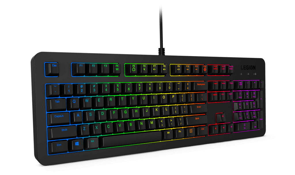 Personalize the Lenovo Legion K300 RGB Gaming Keyboard or use the pre-designed colors.