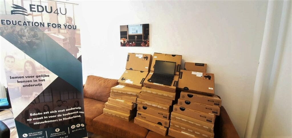 Lenovo notebooks have been donated to EDU4U – an organisation assisting refugee University students helping them continue their studies at home