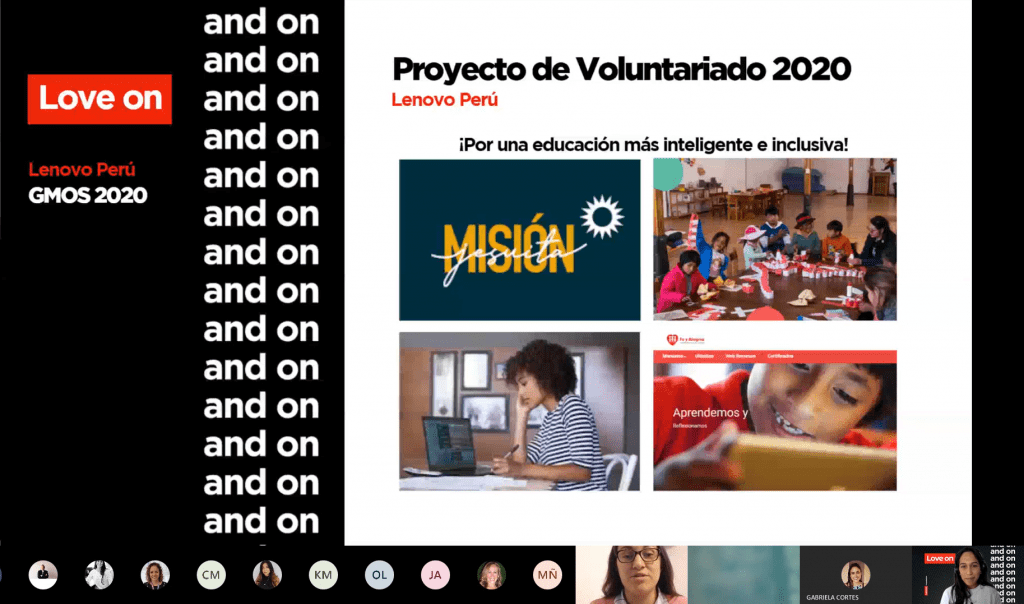 Screenshot of the Mision Jesuita outreach showing a video call.
