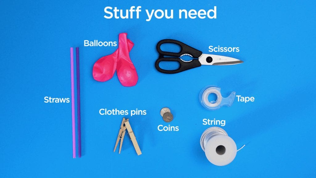 STEM at Home: Balloon race stuff you need