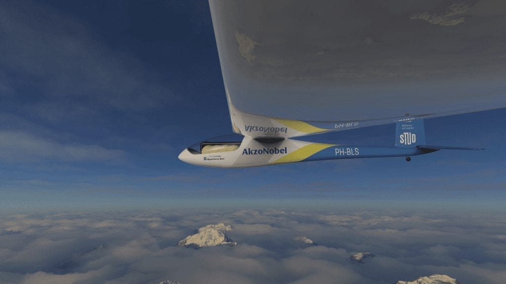 Plane powered entirely by liquid hydrogen soaring above the clouds