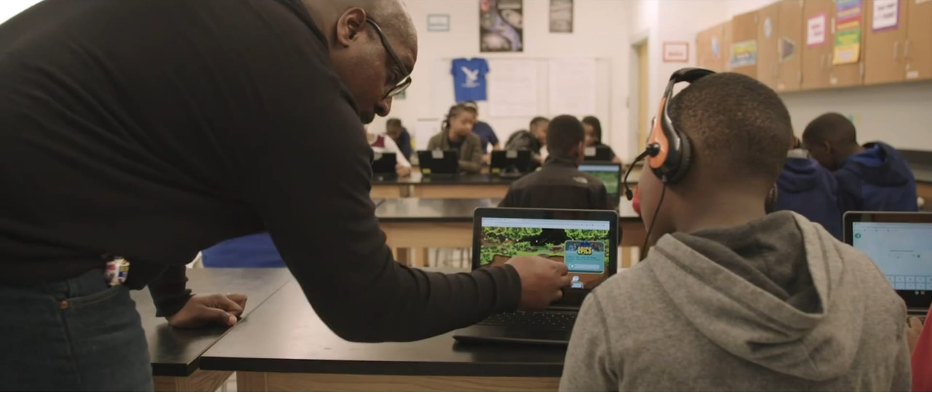 VR technology in classroom