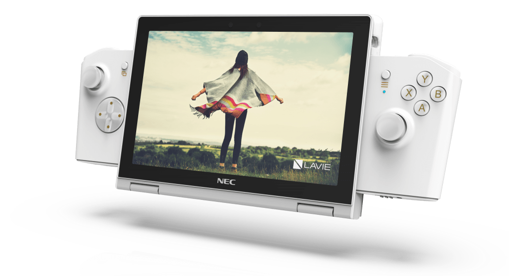 the optional Gaming Controller10 on the super small LAVIE MINI to play high-quality PC games