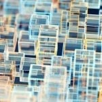 Lenovo brand image - multicolored 3D cubes stacked in multiple layers