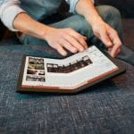 Lenovo ThinkPad X1 Fold, the industry's first-ever foldable PC partially folded wide