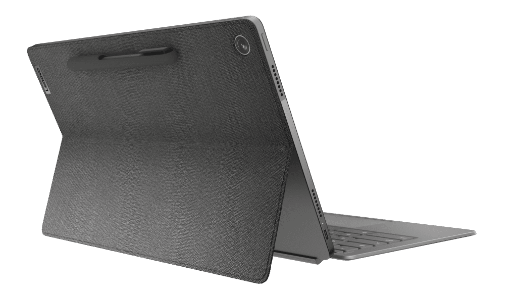 """Easily pop-up your IdeaPad Duet 5 Chromebook (13"""", 6), shown in Storm Grey"""