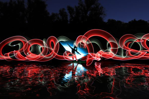 Brand image - Night Time Long Exposure Light Painted Imagery With Color