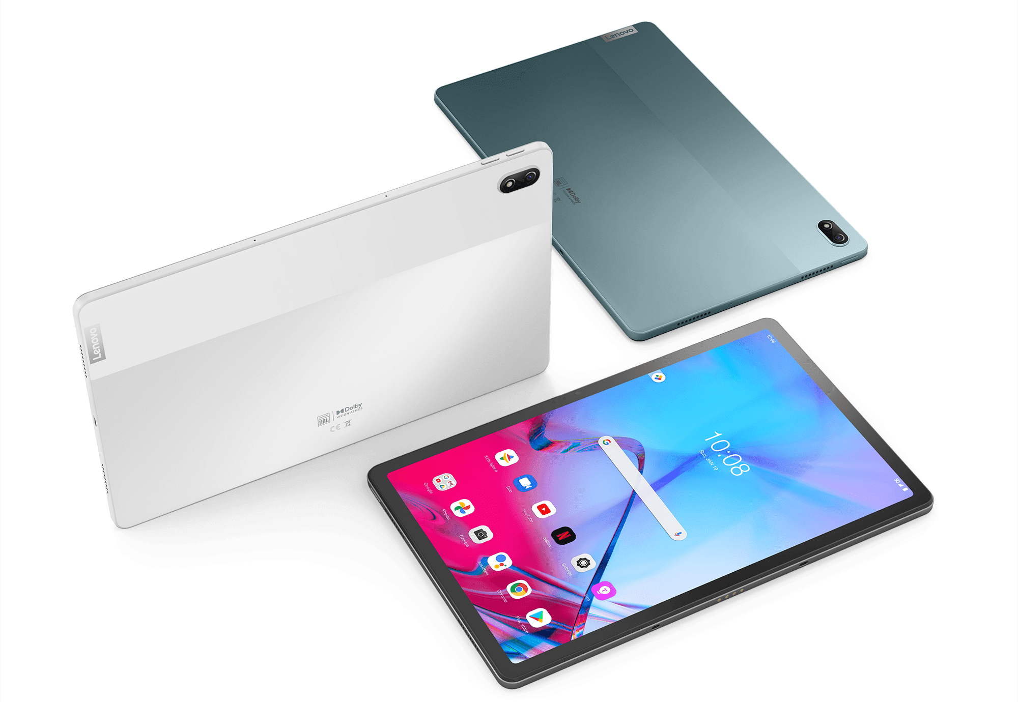Lenovo Tab P11 5G - group shot showing multiple colors