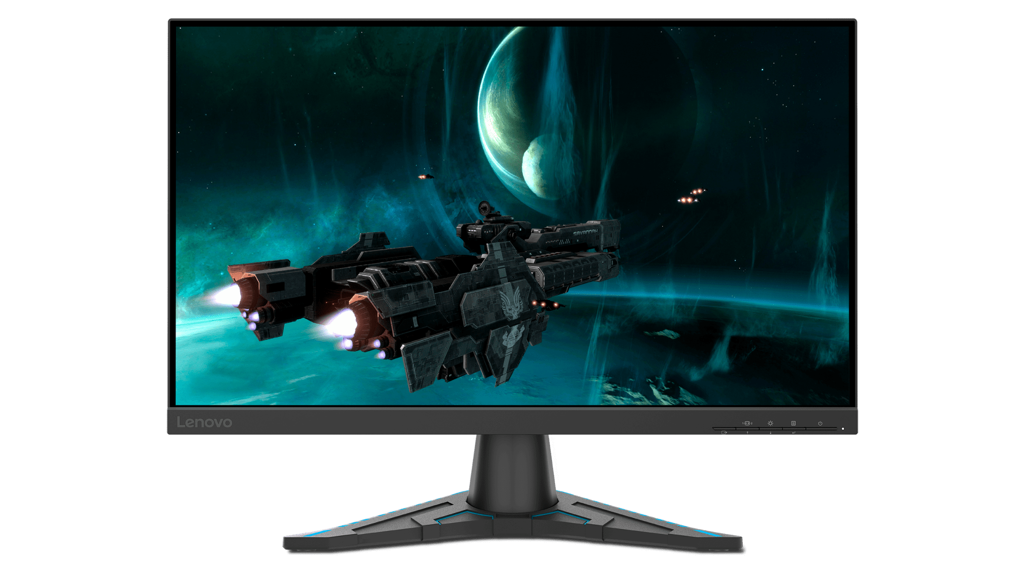 Tilt your Lenovo G24e-20 Monitor for more comfortable gameplay and less eye and neck strain