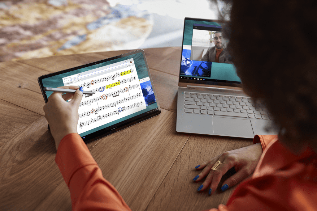 Easily compose your next musical masterpiece with your pen or finger via multi-touch interface